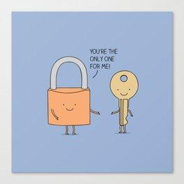 Lock and key Canvas Print