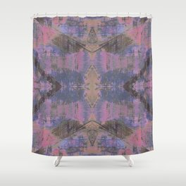 Abstract mosaic panel Shower Curtain