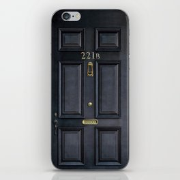 Haunted black door with 221b number iPhone Skin