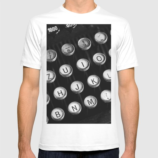 Typewriter keys T-shirt