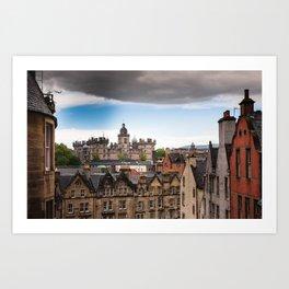 View of Edinburgh architecture from Victoria Street Art Print