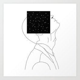 What is he thinking about? Art Print