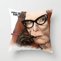 coven Throw Pillows featuring Myrtle Snow || Don't be a hater, dear (from American Horror Story: Coven) by PandaToyz