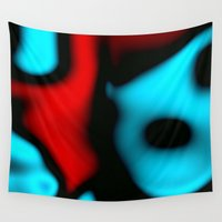 pain Wall Tapestries featuring Pain 2 by Christy Leigh