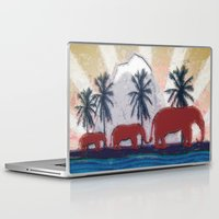 elephants Laptop & iPad Skins featuring Elephants by LoRo  Art & Pictures