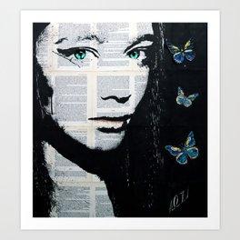 Yekaterina with butterflies Art Print