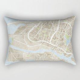 Oakland California Watercolor Map Rectangular Pillow