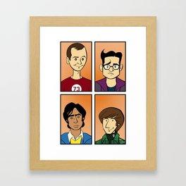 The Big Bang Theory Framed Art Print