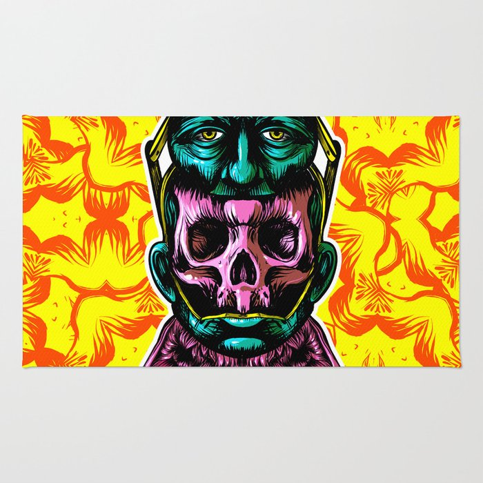 Face helmet Color Rug