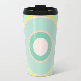 pink magenta circle Travel Mug