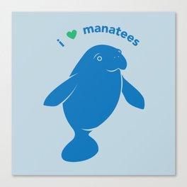 I love Manatees Canvas Print