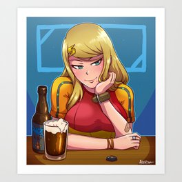 Samus at the Bar Art Print