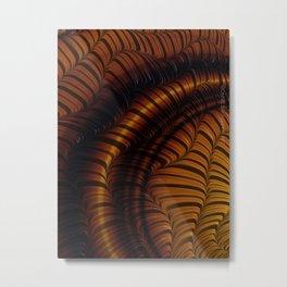 Autumn Fractal Metal Print