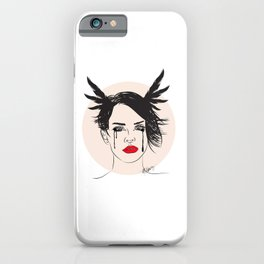 Lana and Her Red Lips - Musically Digital Fan Art iPhone Case