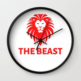 The Beast Lion Text Wall Clock