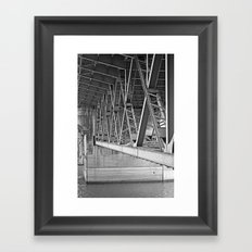 beneath the bridge Framed Art Print