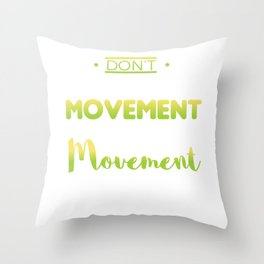 Awesome and Cool Parkour Tshirt Design Movement Throw Pillow