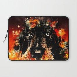 wire haired dachshund dog ws Laptop Sleeve