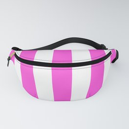 Purple pizzazz pink - solid color - white vertical lines pattern Fanny Pack