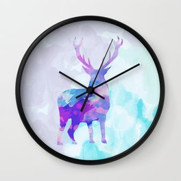 Abstract Deer II Wall Clock