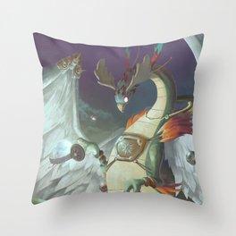 The Dreamteller of Travel Throw Pillow