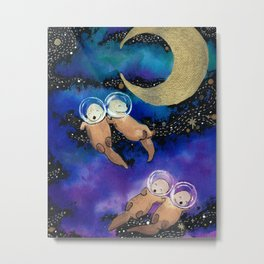 Otter Space Metal Print