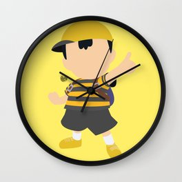 Ness(Smash)Yellow Wall Clock