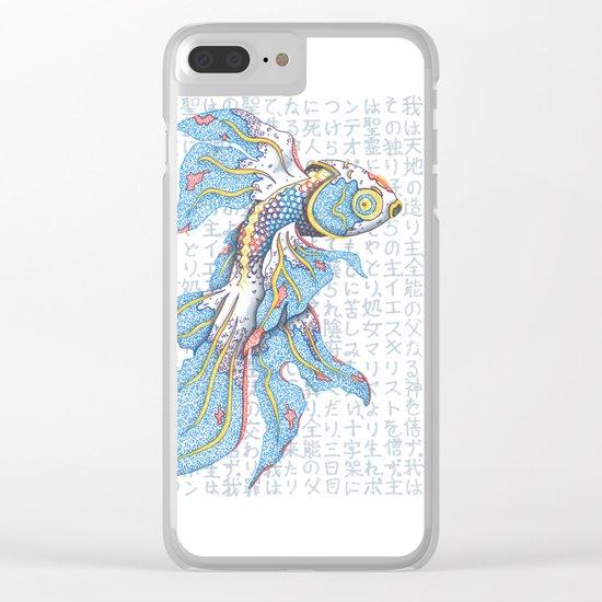 Koi Fish Clear iPhone Case