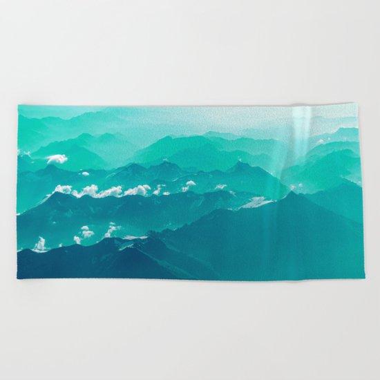 Mountain Waves Beach Towel