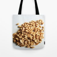 peanuts Tote Bags featuring Salted Peanuts by Steve P Outram