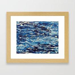 Acrylic Blue Framed Art Print