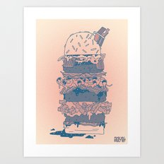 Mighty Burger Art Print