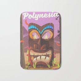 Polynesia Tiki mask Bath Mat