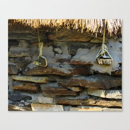 Thatch Roof Ties Donegal Canvas Print