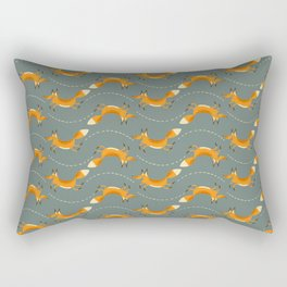 Fox Hop Rectangular Pillow