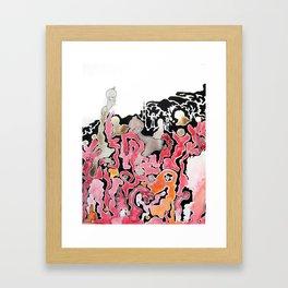 A Wine Mishap Framed Art Print