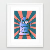 the fault Framed Art Prints featuring Fault 45 02 (its not his fault) by Face Leakage