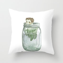 Out of the Jar Throw Pillow