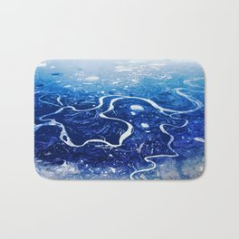 Overlook of Mountains and Rivers Bath Mat
