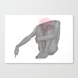 Destitute - Self Portrait Canvas Print