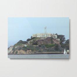 Alcatraz Island from the Bay Metal Print