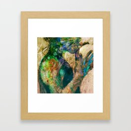 Girl with baloon Framed Art Print