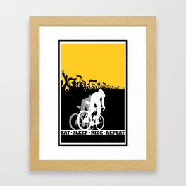 eat sleep ride repeat Framed Art Print