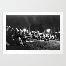 Concert Crowd Art Print