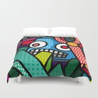 artsy Duvet Covers featuring Artsy Bot by Brandon Ortwein