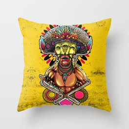 Colored Papoo Throw Pillow