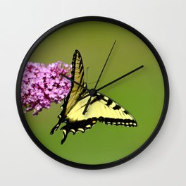 Nature Does Not Intrude II Wall Clock