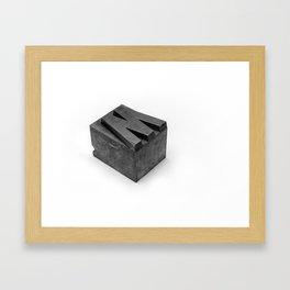 'W' Type Block Framed Art Print