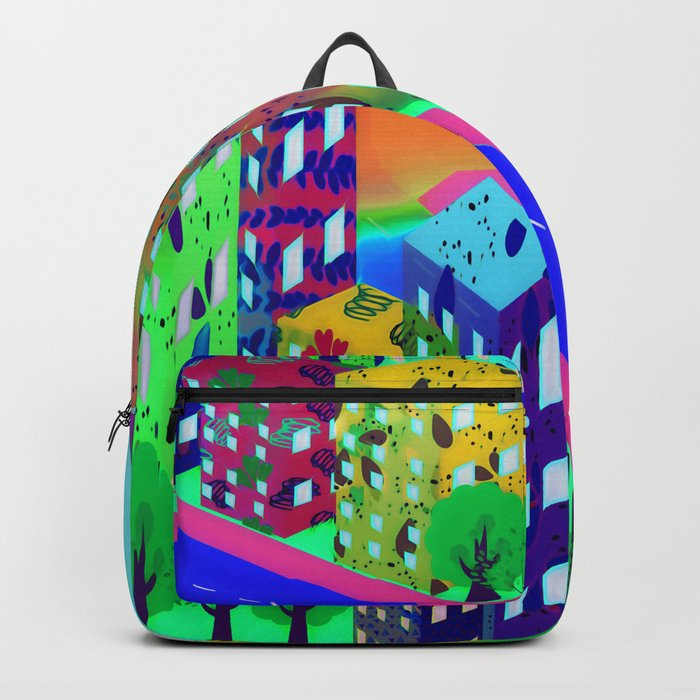 Abstract Urban At Night Backpack
