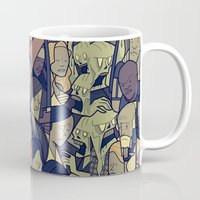 walking dead Mugs featuring The Walking Dead by Ale Giorgini